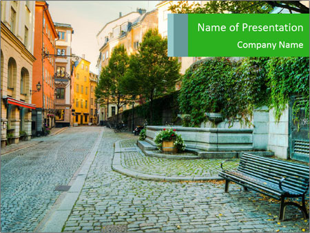 Along the streets PowerPoint Template