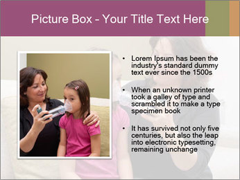 Mother using inhaler PowerPoint Template - Slide 13