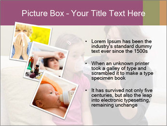 Mother using inhaler PowerPoint Template - Slide 17