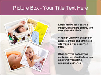 Mother using inhaler PowerPoint Template - Slide 23