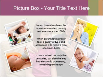 Mother using inhaler PowerPoint Template - Slide 24