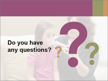 Mother using inhaler PowerPoint Template - Slide 96