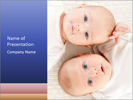 Two beautiful baby PowerPoint Template