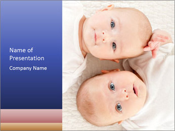 Two beautiful baby PowerPoint Template - Slide 1