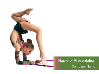 Young girl show PowerPoint Template - Slide 1