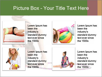 Young girl show PowerPoint Template - Slide 14