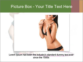 Young girl show PowerPoint Template - Slide 15