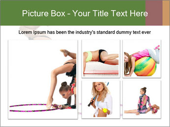 Young girl show PowerPoint Template - Slide 19