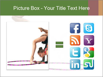Young girl show PowerPoint Template - Slide 21