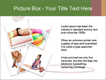Young girl show PowerPoint Template - Slide 23