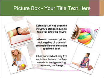 Young girl show PowerPoint Template - Slide 24