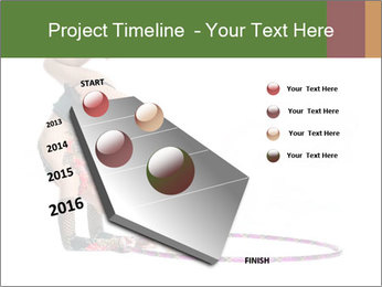 Young girl show PowerPoint Template - Slide 26