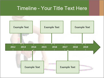 Young girl show PowerPoint Template - Slide 28