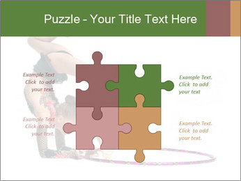 Young girl show PowerPoint Template - Slide 43
