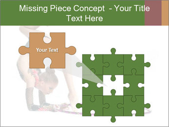 Young girl show PowerPoint Template - Slide 45