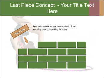 Young girl show PowerPoint Template - Slide 46