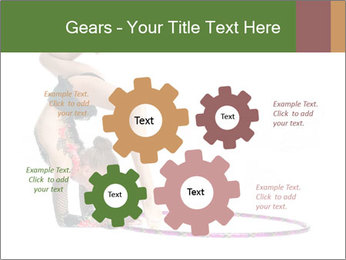 Young girl show PowerPoint Template - Slide 47