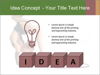 Young girl show PowerPoint Template - Slide 80