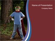 Young Super Hero PowerPoint Template