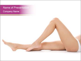 Beautiful female legs PowerPoint Template - Slide 1