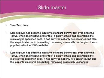 Beautiful female legs PowerPoint Template - Slide 2