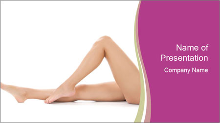 Beautiful female legs PowerPoint Template