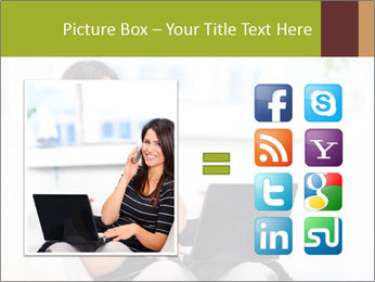 Beautiful woman at home PowerPoint Template - Slide 21