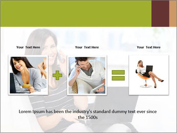 Beautiful woman at home PowerPoint Template - Slide 22