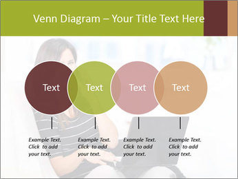 Beautiful woman at home PowerPoint Template - Slide 32