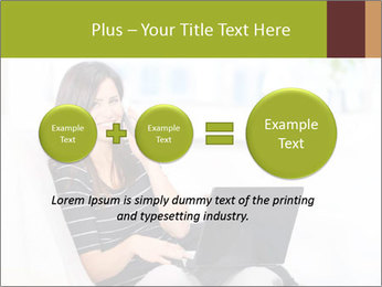 Beautiful woman at home PowerPoint Template - Slide 75