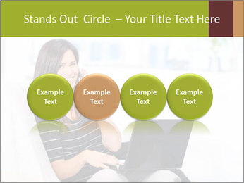 Beautiful woman at home PowerPoint Template - Slide 76
