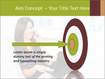 Beautiful woman at home PowerPoint Template - Slide 83
