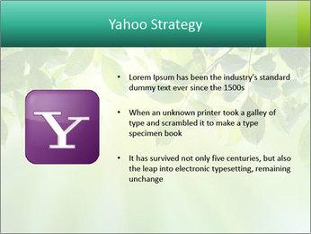 Green leaves PowerPoint Template - Slide 11