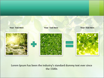 Green leaves PowerPoint Template - Slide 22