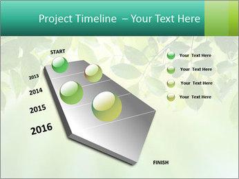 Green leaves PowerPoint Template - Slide 26