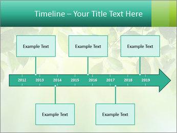 Green leaves PowerPoint Template - Slide 28