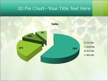 Green leaves PowerPoint Template - Slide 35