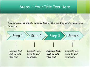 Green leaves PowerPoint Template - Slide 4