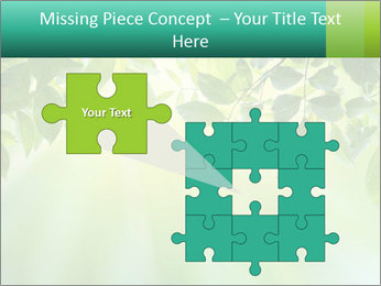 Green leaves PowerPoint Template - Slide 45
