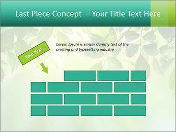 Green leaves PowerPoint Template - Slide 46