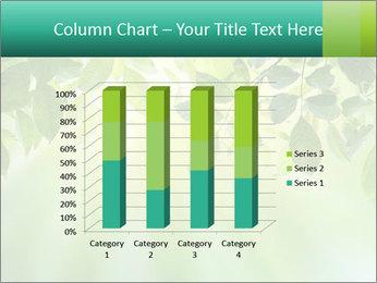 Green leaves PowerPoint Template - Slide 50