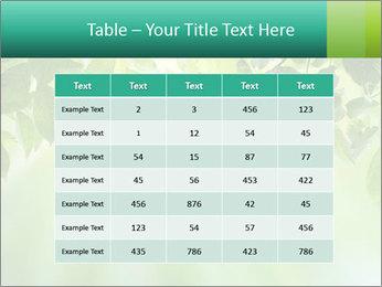 Green leaves PowerPoint Template - Slide 55