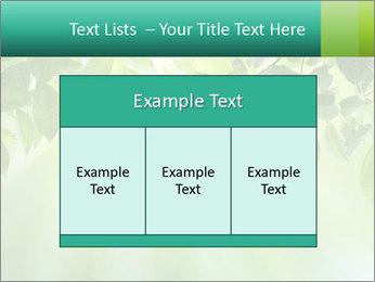 Green leaves PowerPoint Template - Slide 59