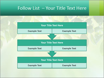 Green leaves PowerPoint Template - Slide 60