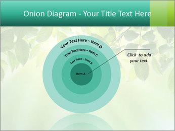 Green leaves PowerPoint Template - Slide 61