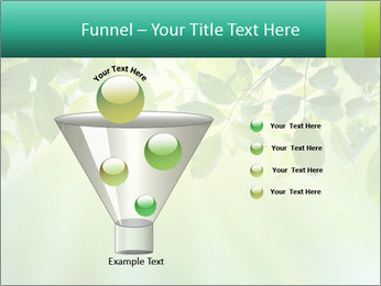 Green leaves PowerPoint Template - Slide 63
