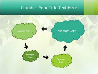 Green leaves PowerPoint Template - Slide 72