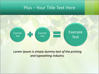 Green leaves PowerPoint Template - Slide 75