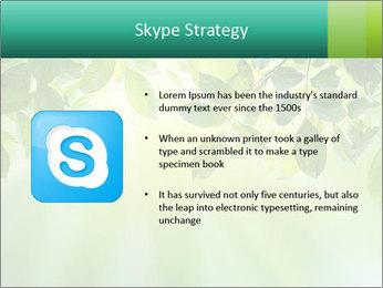 Green leaves PowerPoint Template - Slide 8