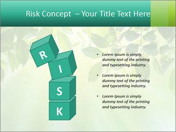 Green leaves PowerPoint Template - Slide 81